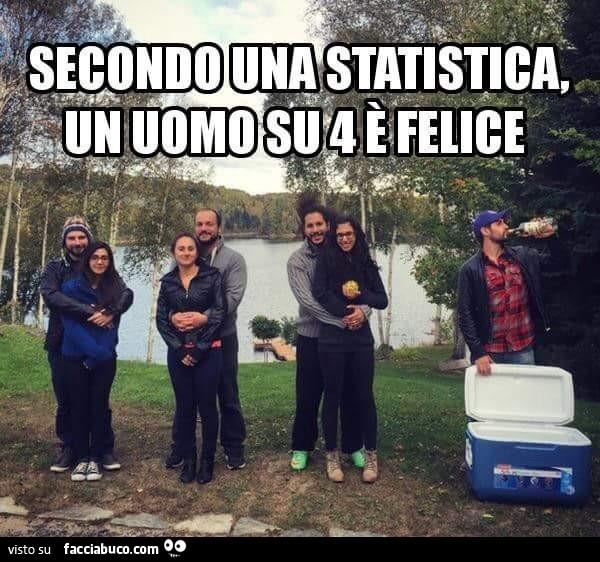 Secondo una statistica, un uomo su 4 è felice condiviso da Kolibrì -  Facciabuco.com
