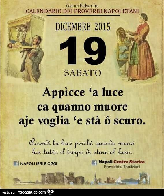 Modenacorre Calendario.Calendario Proverbi Napoletani Calendario 2020