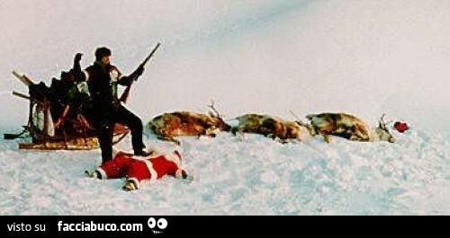Renne Babbo Natale.Babbo Natale Ucciso Assieme Alle Sue Renne Da Un Cacciatore