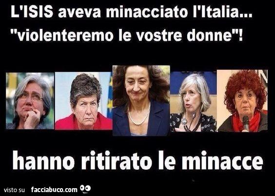 Risultati immagini per isis ritirato minacce italiane