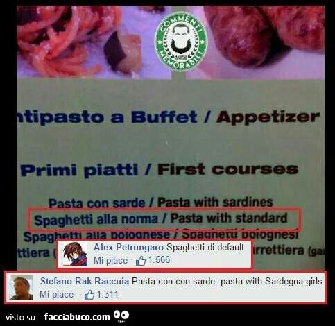 Spaghetti alla norma. Pasta with standard
