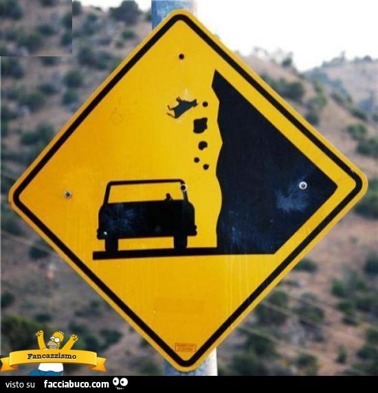 Cartello Pericolo Caduta Massi E Mucche Facciabuco Com
