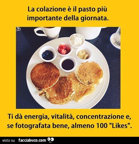 La Colazione E Il Pasto Piu Importante Della Giornata Ti Da Energia Vitalita Concentrazione Facciabuco Com