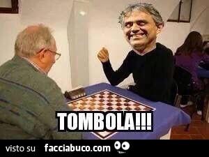Andrea Bocelli Gioca A Dama Tombola Facciabuco Com
