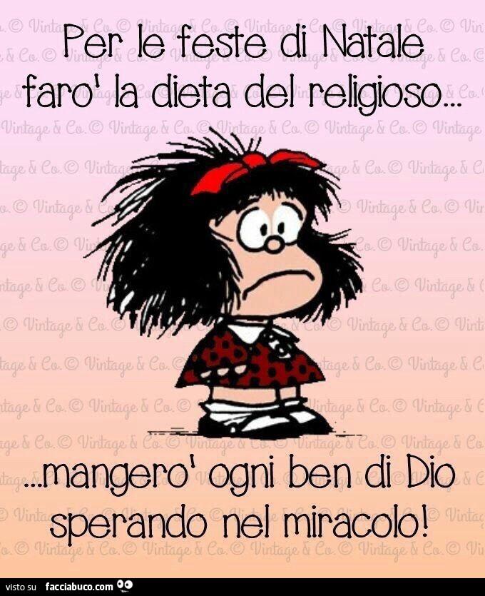 Immagini Di Mafalda A Natale.Per Le Feste Di Natale Faro La Dieta Del Religioso Mangero